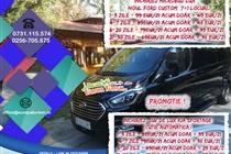 PROMOTIE - INCHIRIERI SUV KIA SPORTAGE AWD 4x4  si MICROBUS PERSOANE FORD TOURNEO CUSTOM 7+1 LOCURI DE LA 25 Eur/zi