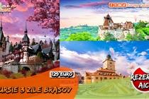 PROMOTIE DE EXCEPTIE! Excursie 3 zile (Vineri 23 Aprilie - Duminică 25 Aprilie) la Sibiu • Făgăraș • Brașov • Bran • Râșnov • Sinaia • 129 Eur